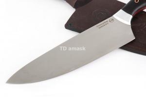 """Кухонный нож """"Шеф-Повар"""": сталь D2; рукоять черный граб, дюраль"""