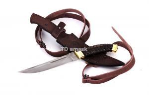 Казачий нож Пластун: сталь алмазка; рукоять венге