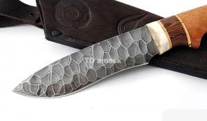 Нож Беркут: сталь алмазка, камень; рукоять сапеле-венге