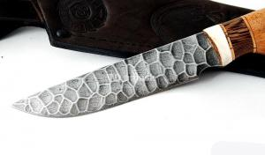 Нож Енот: сталь алмазка, камень; рукоять сапеле-венге