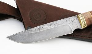 Нож Енот: сталь алмазка; рукоять венге-сапеле