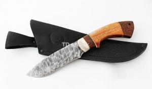 Нож Беркут: сталь дамаск, каменный век; рукоять сапеле