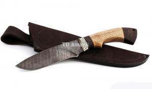 Нож Беркут: сталь дамаск; рукоять орех-венге