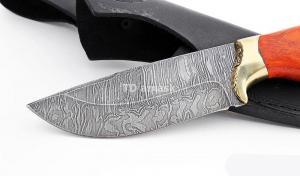 Нож Волк малый: сталь дамаск; рукоять падук