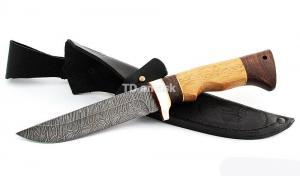 Нож Глухарь сталь дамаск; рукоять сапеле-венге