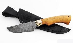Нож Енот малый: сталь дамаск; рукоять сапеле