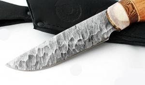Нож Енот: сталь дамаск,каменный век; рукоять сапеле
