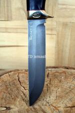 Нож Глухарь: сталь булат рукоять стабилизированный мореный дуб, meinartas