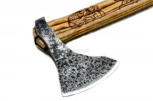"""Tопор """"Сварог"""": сталь углерод+ХВГ; рукоять ясень (кельтский орнамент)"""