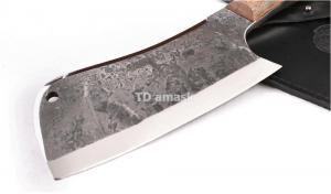 Тяпка большая: сталь х12мф кованая; рукоять цельнометаллическая, махагон