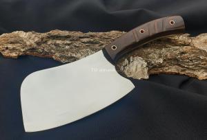 Тяпка: сталь 95х18; рукоять цельнометаллическая, махагон