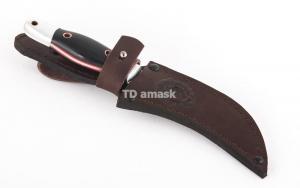 """Кухонный нож """"Коготок"""": сталь D2; рукоять черный граб; дюраль"""
