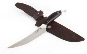 """Кухонный нож """"Филейный"""": сталь D2; рукоять черный граб; дюраль"""