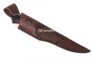 нож Калмык: сталь порошковая Bohler М390 рукоять карельская береза, черный граб