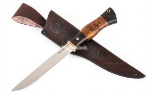 нож Якут сталь порошковая Bohler М390 рукоять карельская береза черный граб