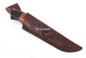 нож Большой коготь: сталь порошковая Bohler М390 рукоять карельская береза черный граб