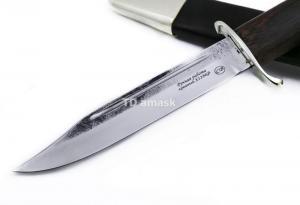 """Нож разведчика """"НР-40"""" сталь Х12МФ; рукоять черный граб"""