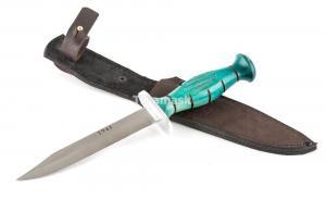 Нож разведчика НР-43 Вишня сталь 95Х18 рукоять зеленый граб