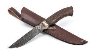 Нож Юрга: дамасская сталь, рукоять венге