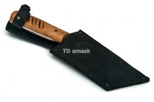 "Нож ""НДК - 17"" сталь кованая 95х18 рукоять цельнометалл, махагон"