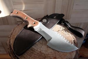 Нож Трекер: сталь 9ХФ; рукоять цельнометаллическая Текстолит
