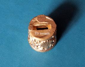 Притин для шампура круглый.Диаметр со стороны рукояти 21мм латунь