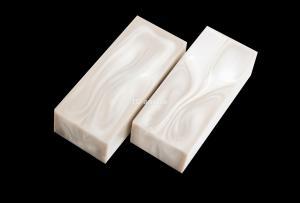 Брусок для рукояти: акриловый композит - белый перламутр