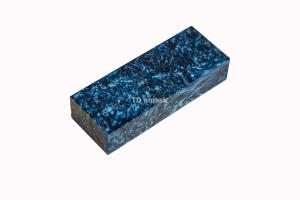 Брусок для рукояти: акриловый композит - синее серебро с мелкой стружкой