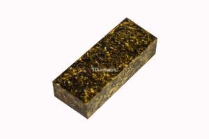 Брусок для рукояти: акриловый композит - золото-бронза с мелкой стружкой
