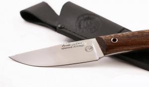 Нож Большой коготь: сталь х12мф; рукоять цельнометаллическая, махагон