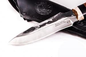 Нож Гриф: сталь х12мф,кривой дол; рукоять граб -махагон
