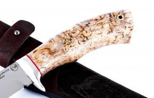 Нож Глухарь сталь Elmax; рукоять стабилизированная кар. береза