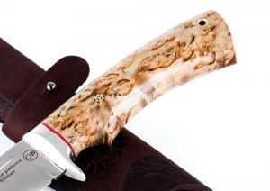 Нож Сибиряк: сталь Elmax; рукоять стабилизированная кар. береза