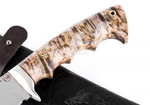 Hож Волк: сталь Elmax; рукоять стабилизированная кар. береза