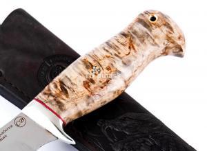 Hож Найденыш: сталь Elmax; рукоять стабилизированная кар. береза