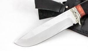 Нож Волк: кованая сталь D2, рукоять черный граб