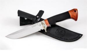Нож Глухарь: кованая сталь D2, рукоять черный граб