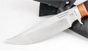 Нож Сокол:кованая сталь D2; рукоять падук