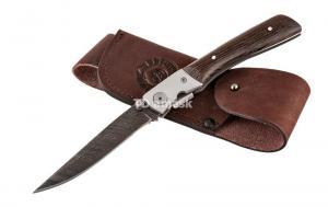 Складной нож Игла: сталь дамаск рукоять венге
