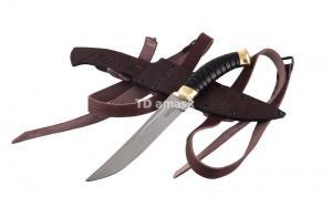 Казачий нож Пластун сталь х12мф; рукоять черный граб
