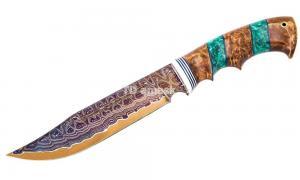 Нож Алтай: сталь Ламинированная; рукоять стабилизированная карельская береза, вставка акрил