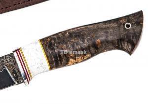 Нож Большой коготь: сталь Ламинированная; рукоять стабилизированная карельская береза, акрил