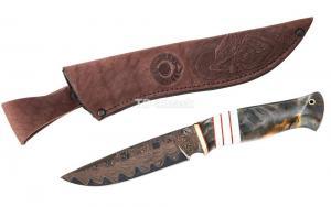 Нож Енот: сталь Ламинированная; рукоять композитный материал гибрид, вставка акрил