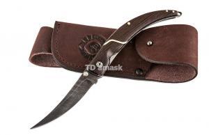 Складной нож Перо сталь дамаск рукоять венге