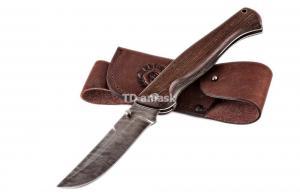 Складной нож Таежный сталь дамаск рукоять венге