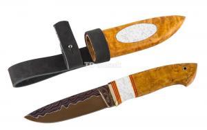 Нож Большой коготь - сталь Ламинированная, рукоять стабил. карельская береза, акрил. Ножны кар. береза, акрил