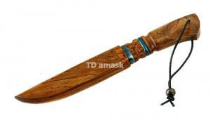 """Нож """"Барс"""" сталь ламинированная , рукоять и ножны - Etimoe """"тигровое дерево"""""""