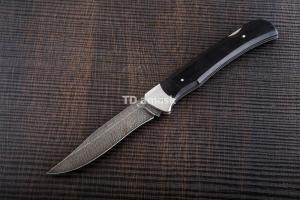Складной нож Егерь: сталь Дамаск; рукоять черный граб