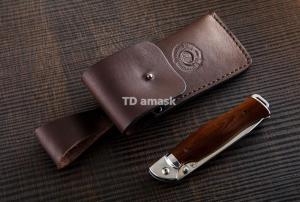 Складной нож Кабан - 3: сталь кованая 95Х18; рукоять сапеле