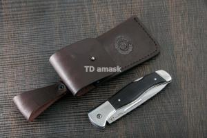 Складной нож Казак большой 3 сталь 95Х18 рукоять черный граб